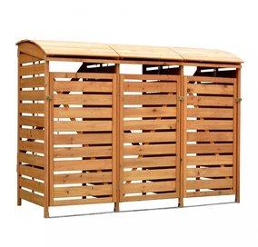 holz m lltonnenbox 3er top 5 3er m lltonnenverkleidungen neu. Black Bedroom Furniture Sets. Home Design Ideas